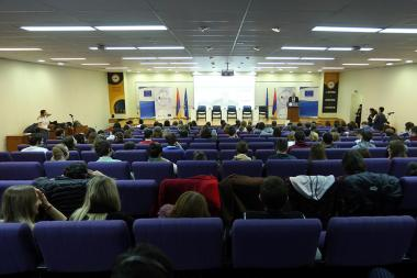 RA Minister of Education and Science Levon Mkrtchyan attended the opening ceremony of the 'Europe planning conference. Europe without borders' youth conference at the AUA - Photolure News Agency