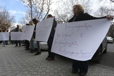 A protest action in support of the murdered Ruzanna Adanalyan of Gyumri took place in front of the RA Prosecutor's General Office - Photolure News Agency