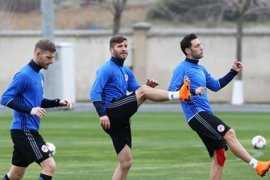 Open training of the Armenia national football team ahead of Armenia vs Estonia and Armenia vs Lithuania football matches took place at the FFA Technical Center/Football Academy - Photolure News Agency