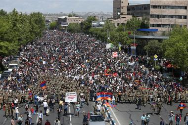 The 11th day of the protest action against RA Prime Minister in Yerevan, Armenia - Photolure News Agency