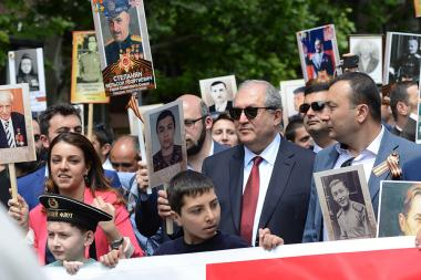 The 'Immortal Regiment' march in Yerevan, Armenia - Photolure News Agency