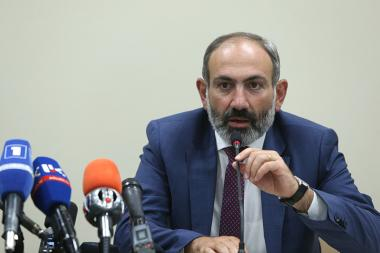 RA Prime Minister Nikol Pashinyan gives a press conference during his visit to Artsakh Republic - Photolure News Agency
