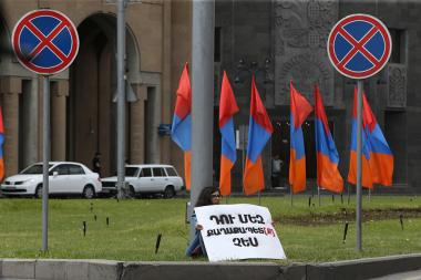 A protest action demanding the Mayor of Yerevan Taron Margaryan's resignation took place in front of the Municipality of Yerevan - Photolure News Agency
