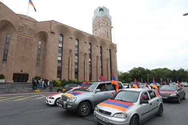 Demanding the resignation of the Mayor of Yerevan Taron Margaryan - Photolure News Agency