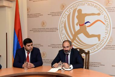 RA Prime Minister Nikol Pashinyan presented newly appointed Minister of Sport and Youth Affairs Levon Vahradyan - Photolure News Agency