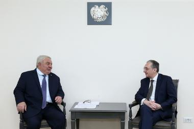 RA Minister of Foreign Affairs Zohrab Mnatsakanyan received the Secretary-General of the Collective Security Treaty Organization (CSTO) Yuri Khachaturov - Photolure News Agency