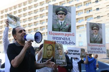 A protest action demanding freedom to the political prisoners took place in front of the General Prosecutor's Office - Photolure News Agency