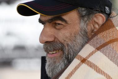 Leader of the founding parliament, political prisoner Garegin Chookaszian holds a hunger strike over 28 days near Matenadaran in Yerevan, Armenia - Photolure News Agency
