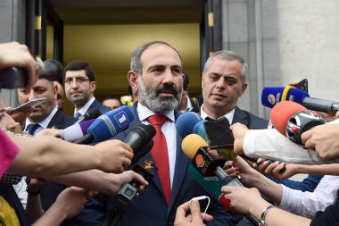 RA Prime Minister Nikol Pashinyan gives a press conference after the swearing-in ceremony at the RA President's Palace - Photolure News Agency