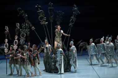 Aram Khachaturian's 'Spartacus' ballet dedicated to the 115th anniversary of Aram Khachaturian took place at the Armenian National Academic Theatre of Opera and Ballet named after Al. Spendiaryan in Yerevan, Armenia - Photolure News Agency