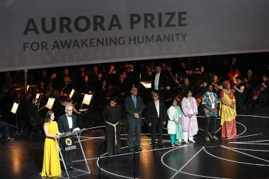 Awarding ceremony of the Aurora Prize for Awakening Humanity took place at the Armenian National Academic Theatre of Opera and Ballet named after Al. Spendiaryan, Yerevan, Armenia - Photolure News Agency
