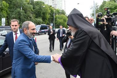 RA Prime Minister Nikol Pashinyan paid a visit to the Monastery of the Armenian Apostolic Church within the framework of his official visit to Moscow, Russia - Photolure News Agency
