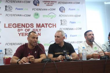 A press conference dedicated to the football legends match took place at the Armenia Marriott Hotel - Photolure News Agency