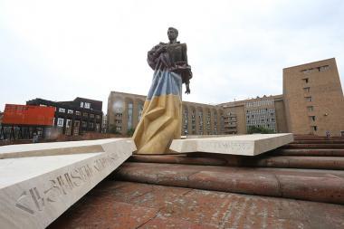 Aram Manukyan's statue in Yerevan, Armenia - Photolure News Agency