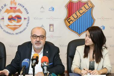 A press conference dedicated to the 100th anniversary of the Homenetmen (Armenian General Athletic Union) took place at the RA Ministry of Diaspora - Photolure News Agency