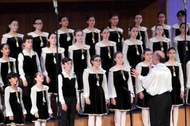 Concert of the National Opera of Paris' Children's Choir and the 'Little Singers of Armenia' took place at the Aram Khachaturian Concert Hall - Photolure News Agency