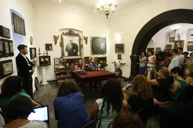 RA Minister of Culture Lilit Makunts and RA Minister of Education and Science Arayik Harutyunyan gave a press conference at the Sergei Parajanov Museum - Photolure News Agency