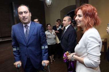 The official opening ceremony of the 'LUYS' Alliance pre-election headquarters took place in Yerevan, Armenia - Photolure News Agency