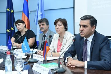 Presentation of the Armenian version of the 'Monitoring of the places of children detention' practical guide took place at the UN Office in Armenia - Photolure News Agency
