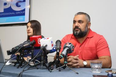 Full member of the 'GALLUP International Association', head of PG LLC Aram Navasardyan gave a press conference at DoubleTree by Hilton Hotel - Photolure News Agency