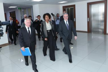 RA Minister of Foreign Affairs Zohrab Mnatsakanyan welcomed Secretary General of the International Organization of La Francophonie Michaelle Jean at the RA MFA - Photolure News Agency