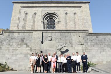 Ambassadors accredited to Georgia paid a visit to Matenadaran within the framework of their official visit to Yerevan, Armenia - Photolure News Agency