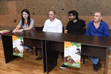 Director of the National Centre Of Chamber Music Norayr Nazaryan, 'Guinness' record holder Nikolay Madoyan (violin) and conductor Karen Durgaryan gave a press conference ahead of the start of 2017-2018 concert season at the National Centre Of Chamber Music of Yerevan, Armenia - Photolure News Agency