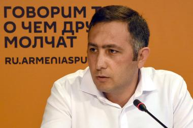 Editor-in-chief of Yerevan Today Sevak Hakobyan gave a press conference at the Sputnik Armenia press center - Photolure News Agency