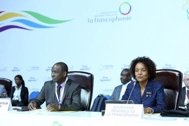 Session of the Francophonie Standing Council took place at the Sports and Concerts Complex named after Karen Demirchyan in Yerevan, Armenia - Photolure News Agency
