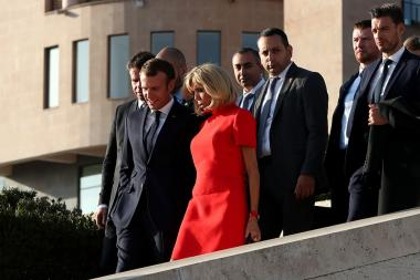 President of France Emmanuel Macron pays a visit to the Charles Aznavour House-Museum in Yerevan within the framework of his visit to Armenia - Photolure News Agency