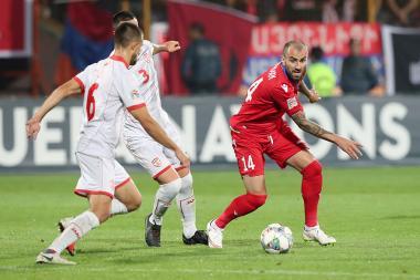 UEFA Nations League football match between Armenia and FYR Macedonia took place at the Vazgen Sargsyan Republican Stadium of Yerevan, Armenia - Photolure News Agency
