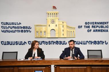 Executive Director of Business Armenia Fund Armen Avak Avakyan gave a press conference at the RA Government's press hall - Photolure News Agency