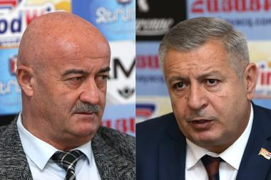 MP from 'Elq' parliamentary faction Hovik Aghazayan and MP from 'Tsarukyan' parliamentary faction Sergey Bagratyan are guests in Hayatsk press club - Photolure News Agency