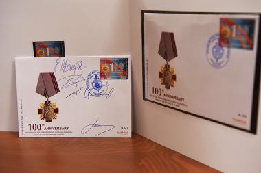 Cancellation of a postage stamp dedicated to the 'Armenian statehood. The 100th Anniversary of RA Police Establishment' took place in the building of the RA Police - Photolure News Agency