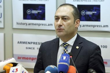 RA Acting Minister of Justice Artak Zeynalyan gave a press conference in 'Armenpress' state news agency - Photolure News Agency