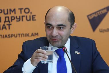 MP Edmon Marukyan gave a press conference at Sputnik Armenia press center - Photolure News Agency