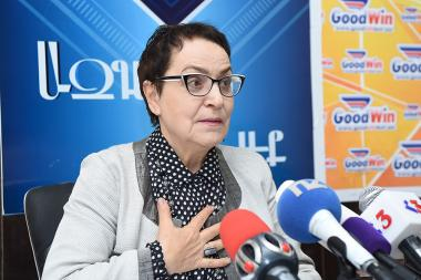 Former human rights defender and chairperson of the Foundation Against Violation of Law Larisa Alaverdyan is guest in Blitz Info press club - Photolure News Agency