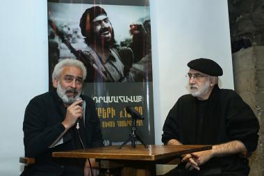 Vahan Artsruni and Toros Sefilyan gave a press conference ahead of the charity concert to support Arayik Khandoyan's family in The Club - Photolure News Agency