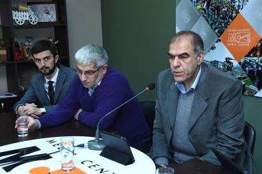 Member of 'Sasna Tsrer' party Garegin Chookaszian, member of 'Citizen's Decision' Social-Democratic Party Miqayel Nahapetyan and member of 'My Step' alliance Karen Sargsyan are guests at the Media Center - Photolure News Agency