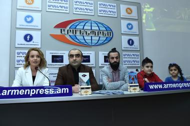 The cast of 'The Snow Maiden' movie gave a press conference ahead of the movie's premiere at 'Armenpress' news agency - Photolure News Agency