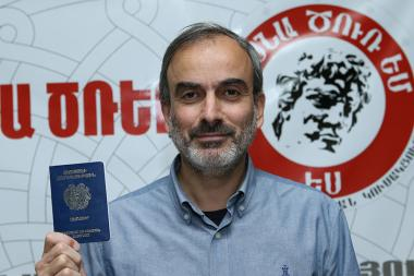 Political activist Jirair Sefilian was granted an Armenian passport - Photolure News Agency