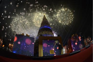 Lighting of the main Christmas Tree took place on Republic Square of Yerevan, Armenia - Photolure News Agency
