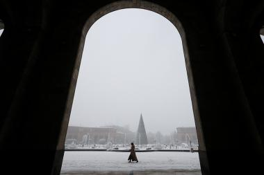 Snowfall in Yerevan, Armenia - Photolure News Agency