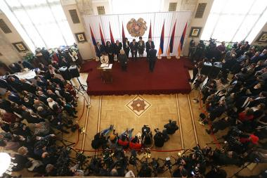 Solemn ceremony of handing over mandates of National Assembly deputies took place at the Armenian National Academic Theatre of Opera and Ballet named after Al. Spendiaryan - Photolure News Agency