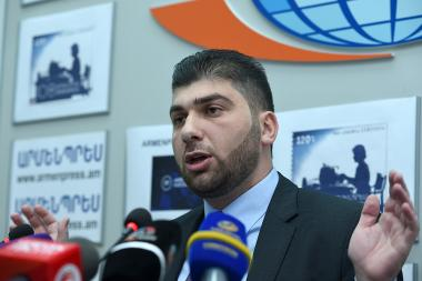 Head of the RA State Control Service Davit Sanasaryan gave a press conference in 'Armenpress' state news agency - Photolure News Agency
