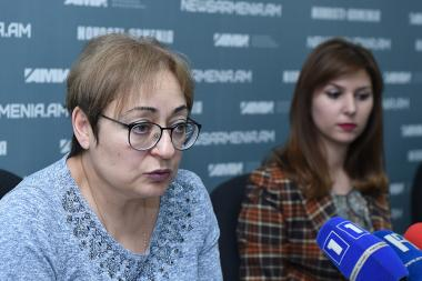 Expert on Artsakh's conflict, coordinator of the 'Ordinary Genocide' project Marina Grigoryan and expert Greta Avetisyan are guests in Novosti-Armenia press center - Photolure News Agency