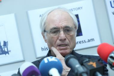 Composer, RA People's Artist Tigran Mansuryan gave a press conference in 'Armenpress' state news agency - Photolure News Agency