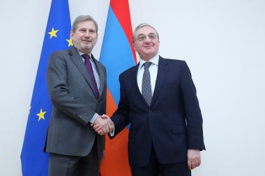 RA Minister of Foreign Affairs Zohrab Mnatsakanyan received the European Commissioner for European Neighbourhood Policy and Enlargement Negotiations Johannes Hahn - Photolure News Agency