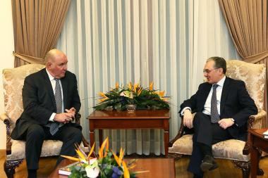 RA Minister of Foreign Affairs Zohrab Mnatsakanyan received the Deputy Minister of Foreign Affairs of Russia Grigory Karasin at the RA MFA - Photolure News Agency