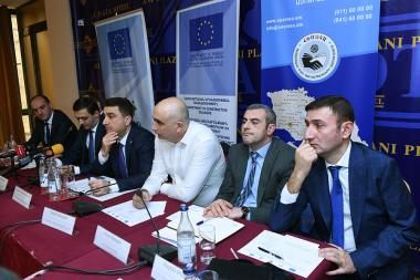 A public discussion dedicated to the 33th article of the RA Draft Law on Making Amendments and Addenda to the Tax Code of the Republic of Armenia, developed by the RA Ministry of Finance took place at Ani Plaza Hotel - Photolure News Agency